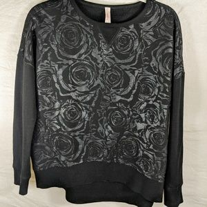 Betsey Johnson Performance Sweatshirt Black small